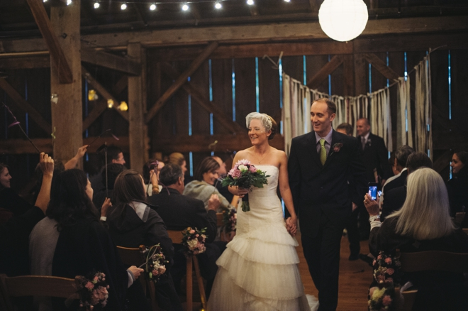 wedding at the barn at fallingwater