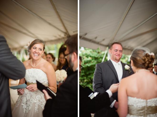 Bride and groom say I Do