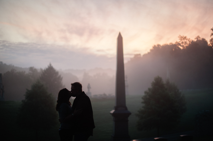 foggy engagement photographs