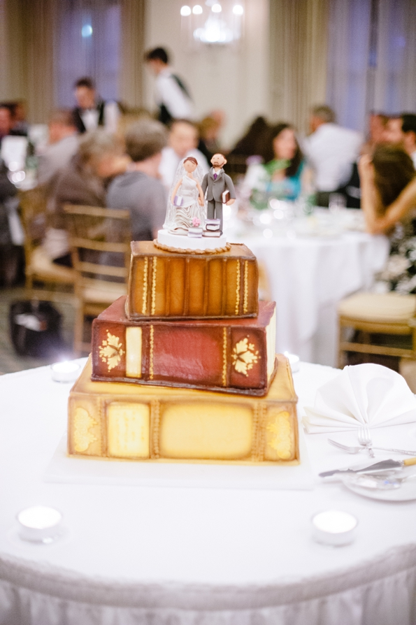 stacked book wedding cake