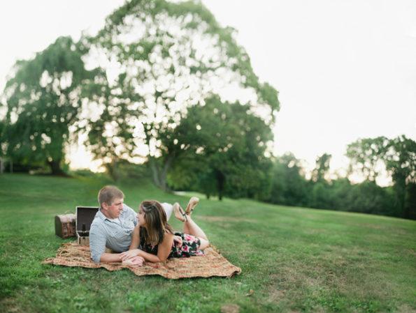 Engagement Picnic at Hartwood Acres