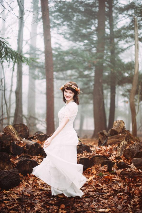 Foggy Morning Bridal Session at Hartwood Acres