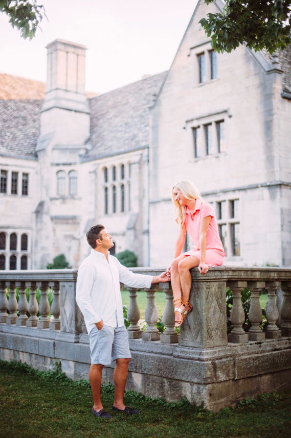 Sunset Engagement Session at Hartwood Acres