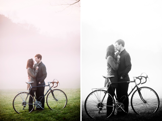 Foggy Engagement Session at Hartwood Acres
