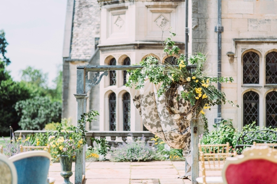 Wedding in Hartwood Acres Courtyard (Rentals from Vintage Alley Rentals, Flowers from Thommy Conroy)