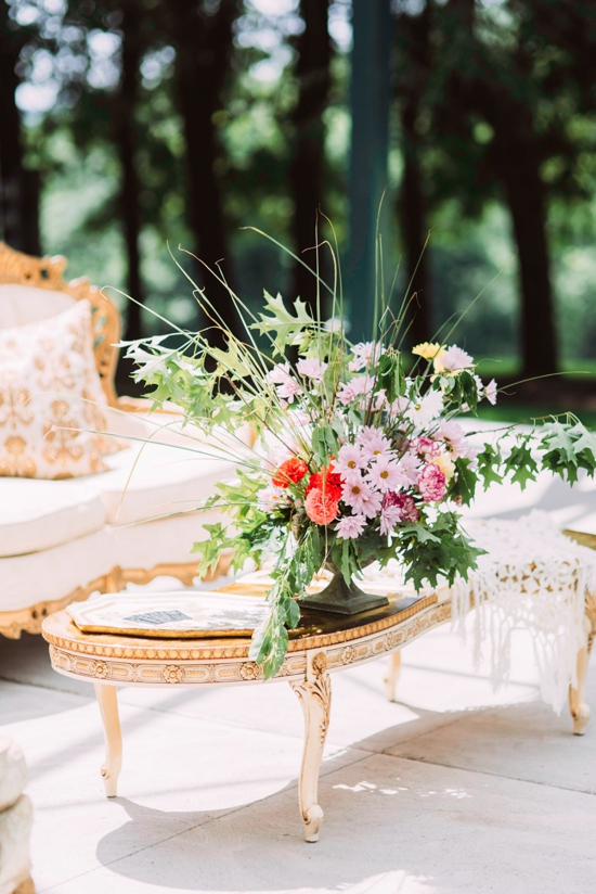 Wedding under Hartwood Acres Pavillion (Rentals from Vintage Alley Rentals, Flowers from Thommy Conroy)