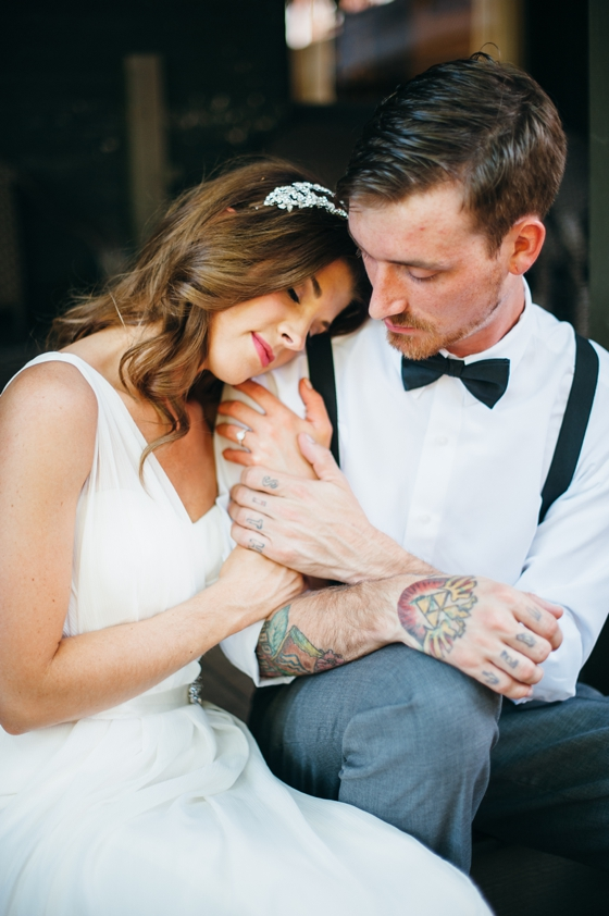 Tattoo bride and groom