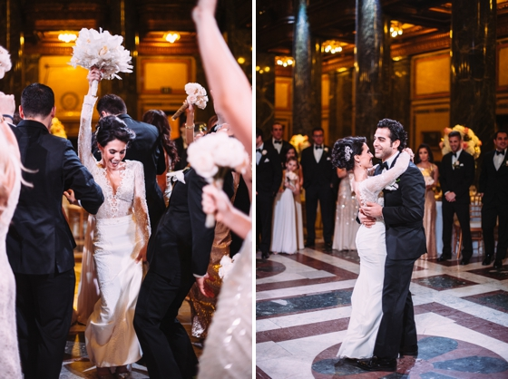 Winter Carnegie Music Hall wedding inspiration