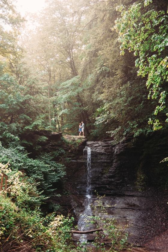 Pittsburgh Wedding Photographers Waterfall