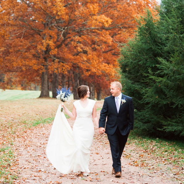 Vineyard wedding in Autumn Fall