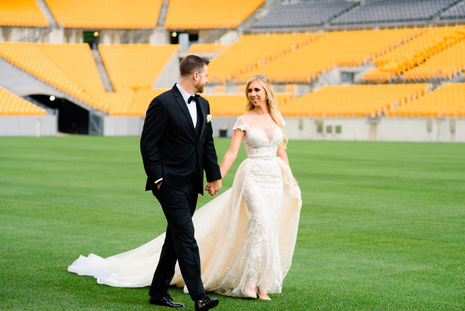 Wedding portraits on Heinz field