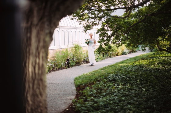 Bride and groom at Phipps Conservatory