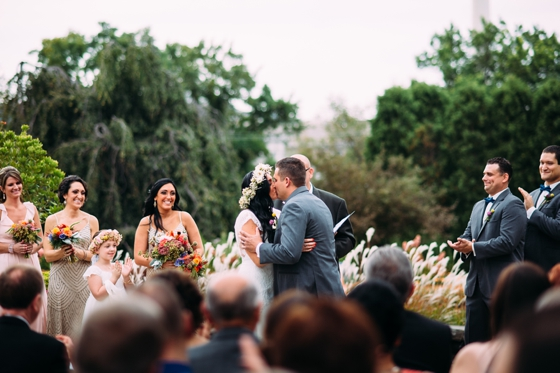 Wedding ceremony at Phipps Conservatory