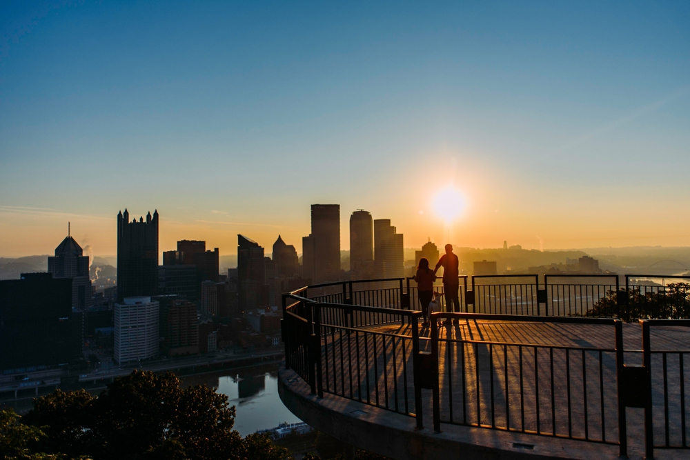 Mt. Washington Pittsburgh Skyline View Lookout Grandview