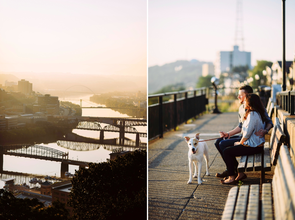 Pittsburgh skyline engagement session