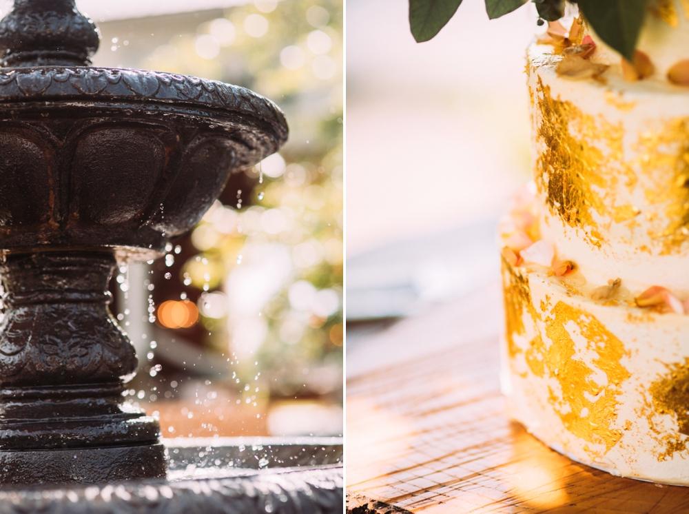 Gold leaf cake wedding