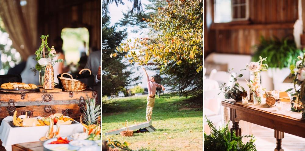 Outdoor barn wedding decor