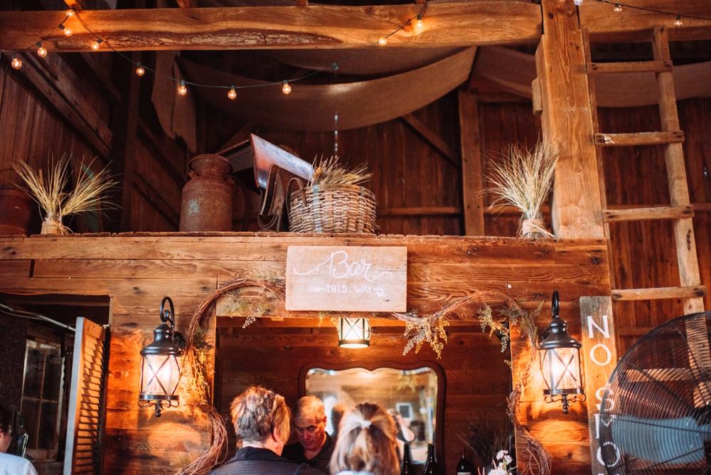 Cute barn wedding decor