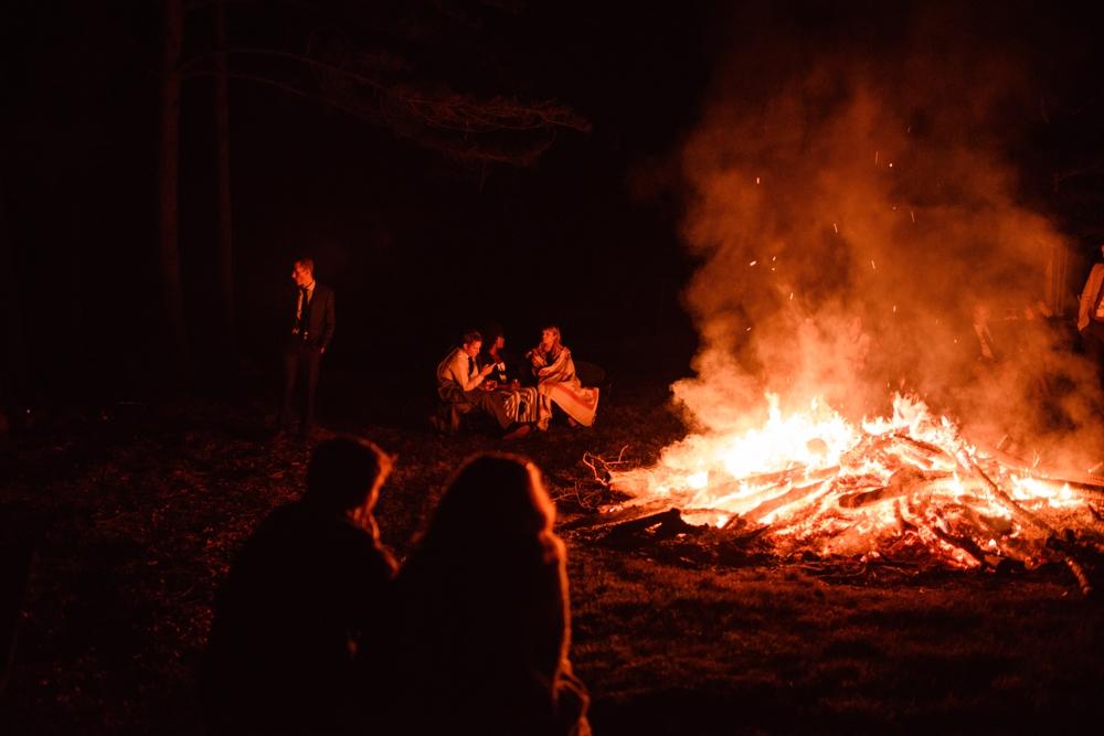 bonfire wedding outdoor summer