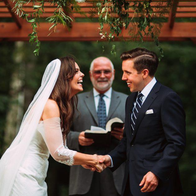 outdoor wedding ceremony in Pittsburgh