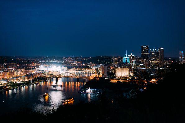 View of Pittsburgh from Monterey Bay Fish Grotto