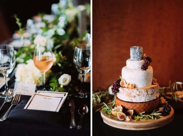 Cheese tower cheese cake stacked wedding