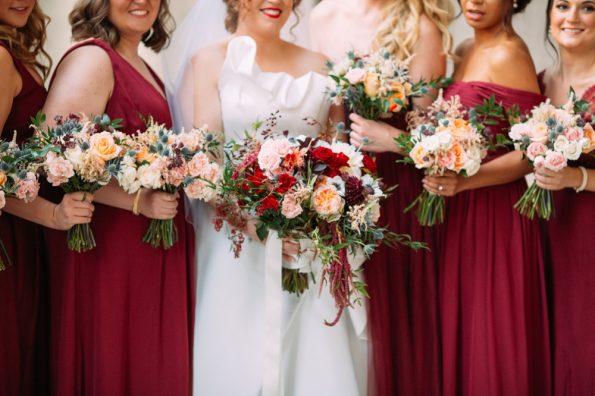 Mocha Rose floral winter wedding