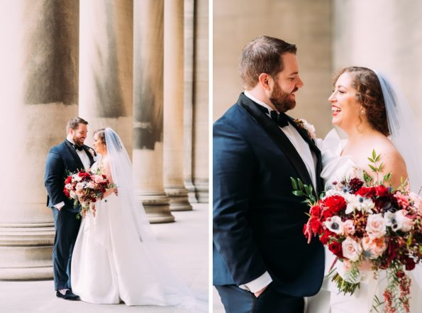 bride and groom portraits in Pittsburgh