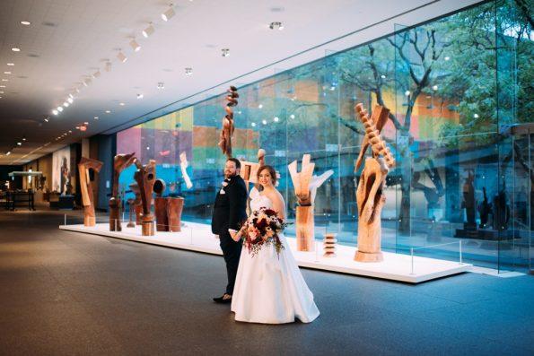 Museum wedding portraits
