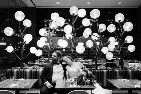 Cafe wedding portraits