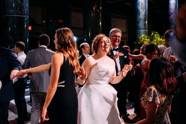 fun wedding reception dance floor