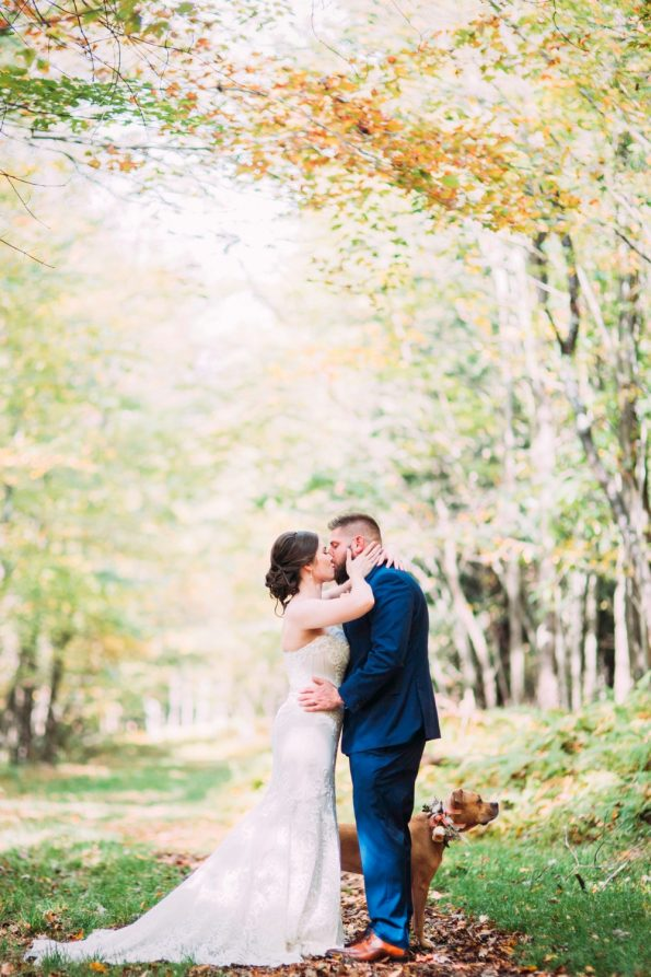 wedding elopement in the forest