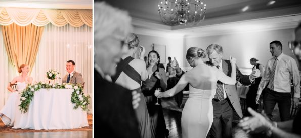 Bride dancing at her reception at Southpointe Golf Club