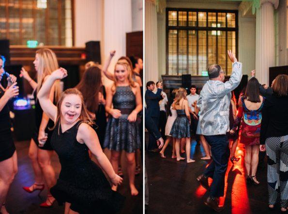 wedding guests dancing at Kimpton Hotel Monaco