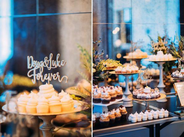 Wedding dessert table at Kimpton Hotel Monaco Pittsburgh